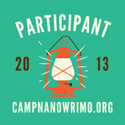 Nanowrimo Camp Lantern Participant Badge
